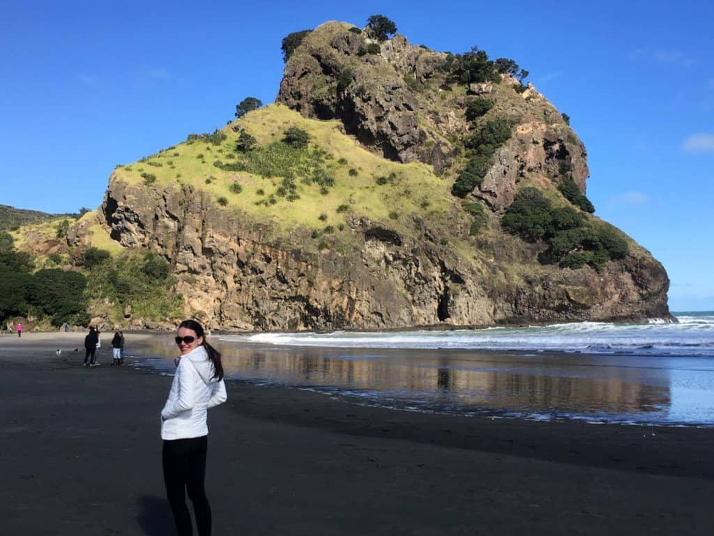 Piha Beach in Winter
